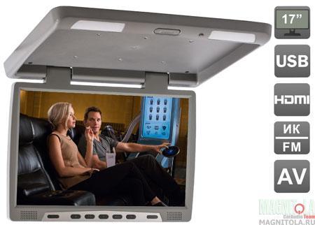 Потолочный монитор со встроенным медиаплеером AVIS AVS117 gray
