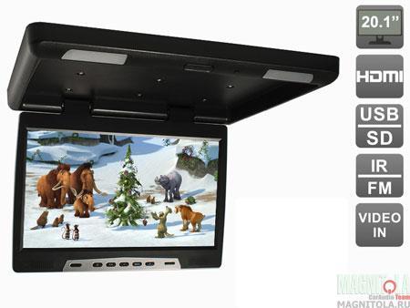 Потолочный монитор со встроенным медиаплеером AVIS AVS2020MPP (черный)