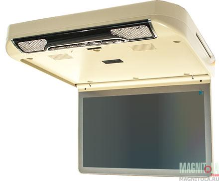 Потолочный монитор с DVD-проигрывателем AVIS AVS440T бежевый