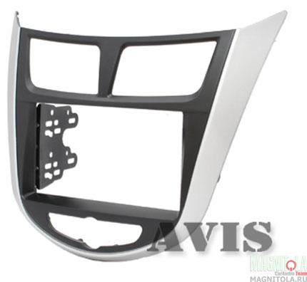 Переходная рамка 2DIN для автомобилей Hyundai Solaris AVIS AVS500FR (047)
