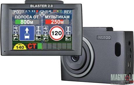Автомобильный видеорегистратор/радар-детектор INTEGO BLASTER 2.0
