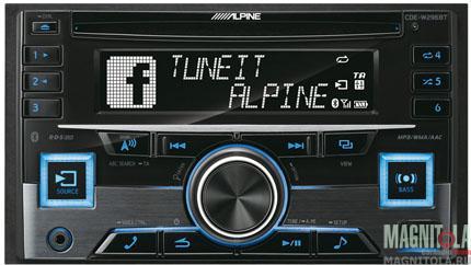 2DIN CD/MP3-ресивер с USB и поддержкой Bluetooth Alpine CDE-W296BT