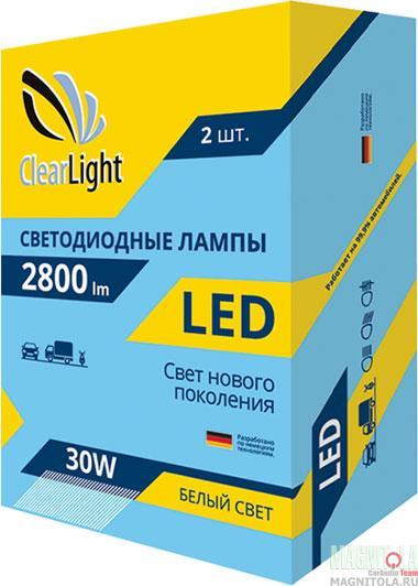 Комплект светодиодных ламп ClearLight LED H4 2800