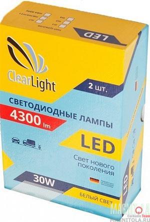Комплект светодиодных ламп ClearLight LED H3 4300