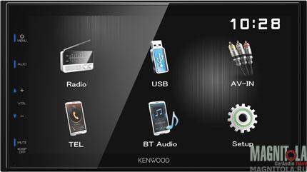 2DIN мультимедийный бездисковый ресивер с поддержкой Bluetooth Kenwood DMX110BT