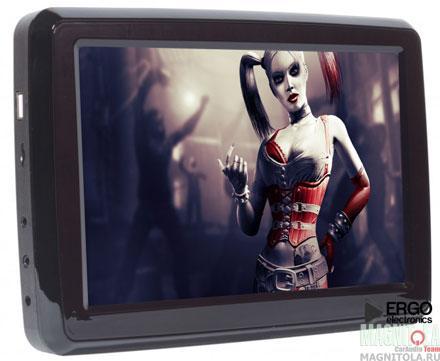 Навесной монитор на подголовник со встроенным DVD-плеером Ergo Electronics ER10VA (черный)