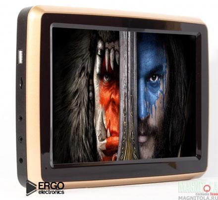 Навесной монитор на подголовник со встроенным DVD-плеером Ergo Electronics ER10VA (золотистый)