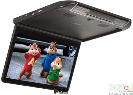 Потолочный монитор со встроенным медиаплеером Ergo Electronics ER13S черный