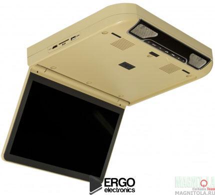 Потолочный монитор с DVD-проигрывателем Ergo Electronics ER13S-DVD beige