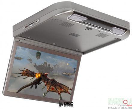 Потолочный монитор с DVD-проигрывателем Ergo Electronics ER13S-DVD grey