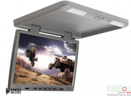 Потолочный монитор со встроенным медиаплеером Ergo Electronics ER17F серый