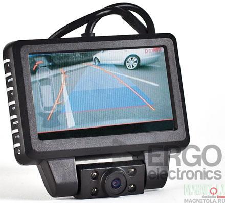 Монитор для камеры заднего вида, со встроенным видеорегистратором Ergo Electronics ER530DVR