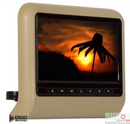 Навесной монитор на подголовник со встроенным DVD-плеером Ergo Electronics ER9L beige