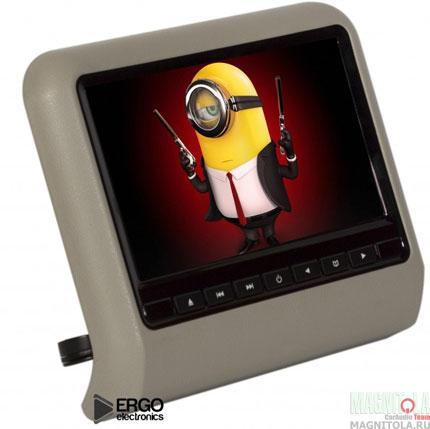 Навесной монитор на подголовник со встроенным DVD-плеером Ergo Electronics ER9L grey