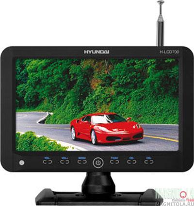 Автомобильный телевизор Hyundai H-LCD700 black new