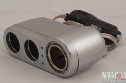 Разветвитель автомобильного прикуривателя INTEGO C-04 (серебро)