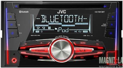 2DIN CD/MP3-ресивер с USB и поддержкой Bluetooth JVC KW-R910BT