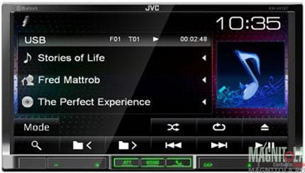 2DIN мультимедийный центр с поддержкой Bluetooth JVC KW-V41BTEE