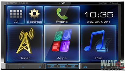 2DIN мультимедийный центр с поддержкой Bluetooth JVC KW-V50BTEE