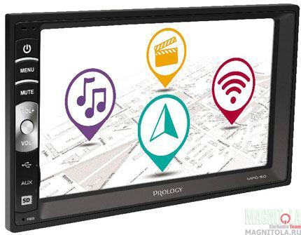 2DIN мультимедийный бездисковый ресивер Prology MPC-50