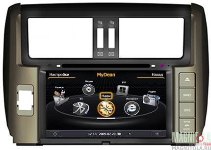 Мультимедийная система для штатной установки, с навигацией для Toyota LC Prado 150 (2009-) MyDean 3065H