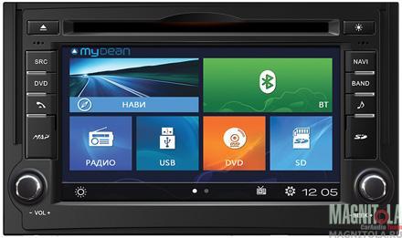 Мультимедийная система для штатной установки, с навигацией для Hyundai H-1 (2007-2015) MyDean W233