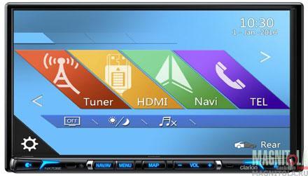2DIN мультимедийный центр с навигацией и поддержкой Bluetooth Clarion NX706E
