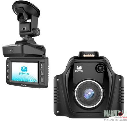 Автомобильный видеорегистратор/радар-детектор Playme TURBO