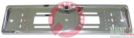 Камера переднего обзора в рамке номерного знака Pleervox PLV-FCAM-R_chome