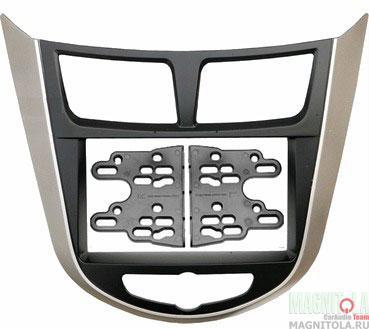 Переходная рамка 2DIN для автомобилей Hyundai Solaris INTRO RHY-N19