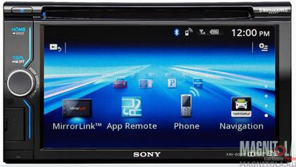 2DIN мультимедийный центр с поддержкой Bluetooth Sony XAV-602BT
